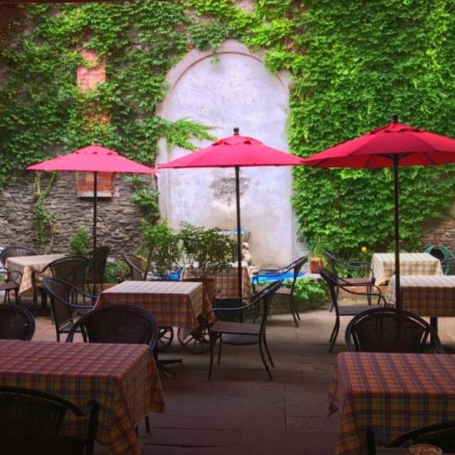 Dinkel's Restaurant & Courtyard - Photo by Dinkel's & Paulo's Restaurants.