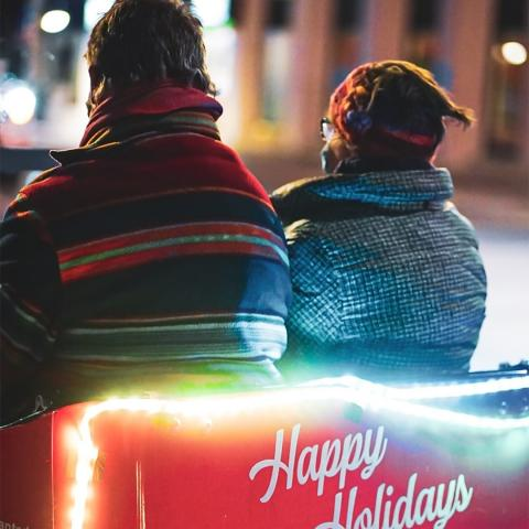 Come to the Downtown District for holiday cheer!  🍴 Dine in or take out from 20+ restaurants  🛍️ Shop later on Thursdays and Fridays (many shops open till 8pm!)  📕 Holiday Passport Program is on for a chance to win!   💡Stroll through the illuminated carriageways (next to @ekort_realty and next to @cantescapethecrepe )  🚲 Free pedicab rides until Dec 19 (prebooking recommended but you may also catch a ride by just being downtown)  🎶 Friday night live music at select restaurants  📸 Photos in the #GiantSantaChair (258 Front Street)  ❄️ Vote for your favourite Holiday Window (link in bio)  🔥 Cozy up to a fire table for warmth between shopping  💡Stroll through the illuminated carriageways (next to @ekort_realty and next to @cantescapethecrepe )  👼 Take a photo in front of the illuminated angel wings outside Century Village at Bridge and Front Street   For full details click the link in our bio!