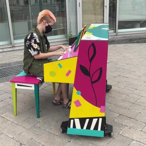 We're thrilled to see people already using the painted pianos in Century Village Square, right by @quintecorner, @larkbelleville, @lilobiskitchen, @paulosanddinkels, @sativa.bliss and more!  Open Monday-Friday 9am-4:30pm and Saturday 8am-4pm. Please use the hand sanitizer provided before and after playing.   For all the details and descriptions behind the paintings, visit downtownbelleville.ca/painted-pianos [link in our bio].   #downtownbelleville #dtbelleville #choosedowntownbelleville #shopdowntownbelleville #bayofquinte #shoplocalquinte #shopquinte #shopdowntownbelleville #discoverdowntownbelleville #quinte #bellevilleontario #bayofquinte #dtbelleville #greatwaterway  #SouthEasternOntario #bayofquinte #pec #downtowndistrictmarketplace #shopsmall #supportlocal #alfresco #doitalfresco #doitalfrescointhedistrict