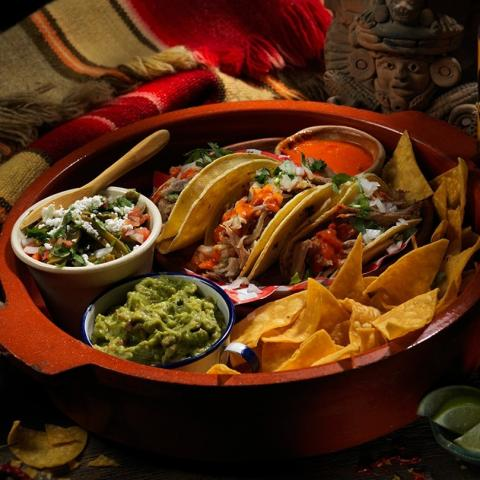 Dinner is served! Enjoy this Quintelicious meal from @chilangosmexicanrestaurant this weekend!  🔷 Guacamole & Chips 🔶 Carnitas tacos with cactus salad and frijoles puercos (baked beans with bacon, chorizo and a hint of jalapeño) 🔹 Churro bites with chocolate sauce 🔸 Radio tube beer from signal brewery (Pilsner beer)  $40 plus tax Order online, by phone or make a reservation to dine in!  Quintelicious Belleville, March 1-31 quintelicious.ca    #downtownbelleville #dtbelleville #choosedowntownbelleville #shopdowntownbelleville #bayofquinte #downtownbelleville #shoplocalquinte #shopquinte #shopdowntownbelleville #discoverdowntownbelleville #quinte #bellevilleontario #bayofquinte #dtbelleville #greatwaterway  #SouthEasternOntario #bayofquinte #pec #downtowndistrictmarketplace #shopsmall #supportlocal